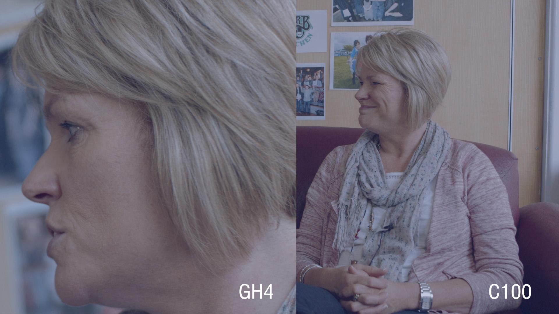 C100 / GH4 Skin tone comparison graded